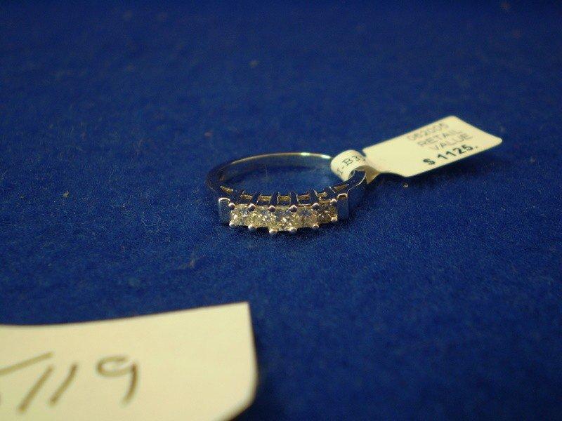166: 14k White Gold Princess Cut Diamond Ring
