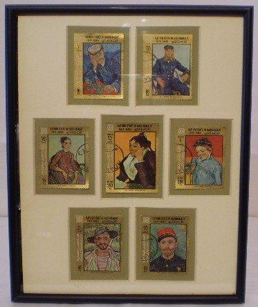 20: 7 x Kathiri State in Hadhramaut Van Gogh stamps
