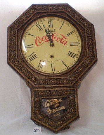 35: Coca-Cola Advertising Clock