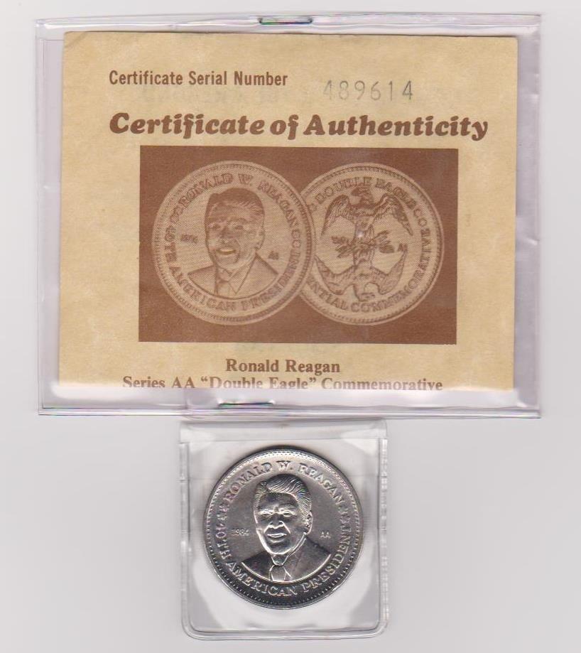 4: Ronald Reagan Double Eagle Coin