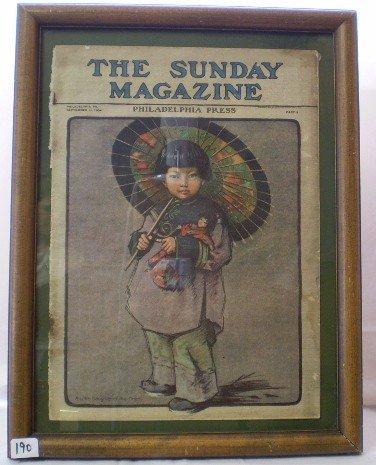 8: Antique 1904 Philadelphia Pree Magazine Cover