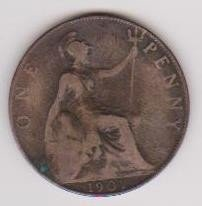 16: 1907 One Penny British Coin