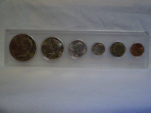 23: 1976 uncirc 6 coin Bi-Centennial set