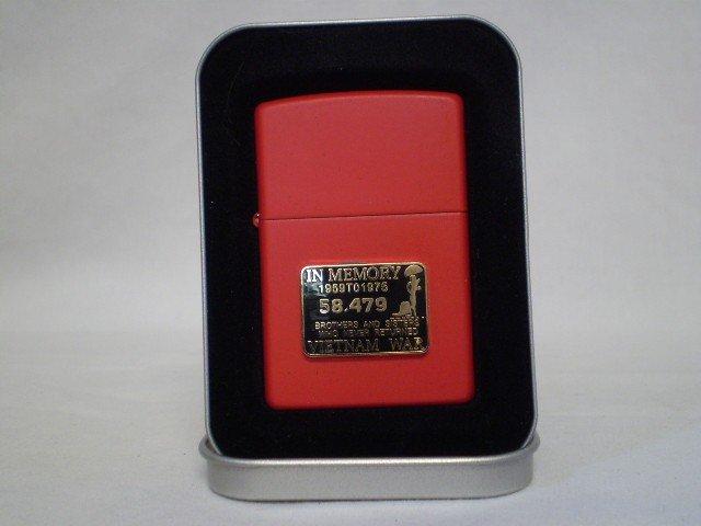 9: Red Zippo Lighter
