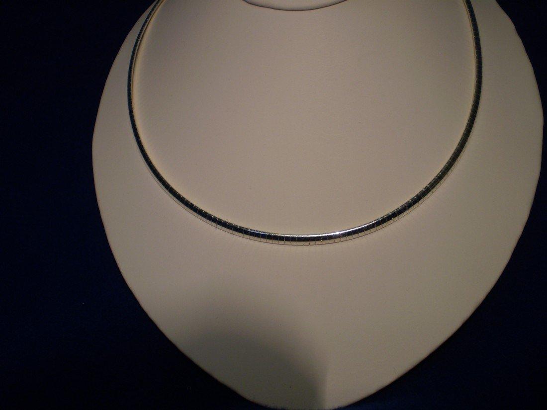 "23: 18"" Sterling Silver Snake Necklace"