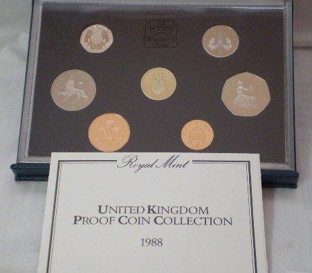 3: 1988 Ubited Kingdon Proof Coin Set