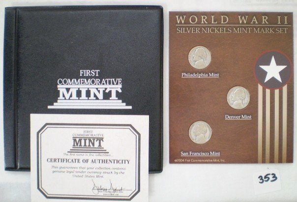 4: WWII nickle coin set