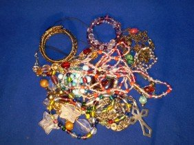 17: Large lot of costume jewelry