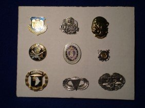 Set Of Military Themed Pins