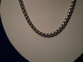 24: Sterling Twisted Rope Chain