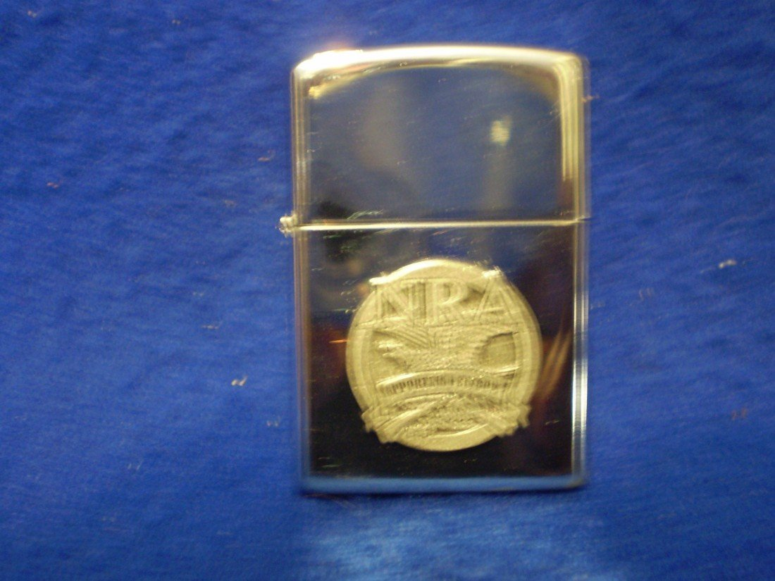 9: Zippo style lighter with NRA emblem