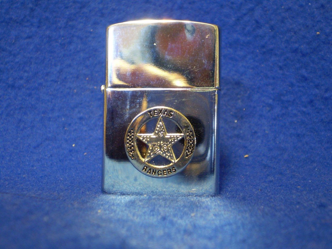 10: Zippo style lighter with Texas Ranger badge emblem