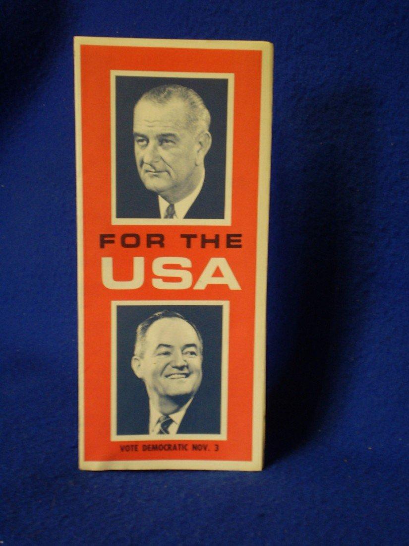 18: 1964 Johnson Campaign Flyer