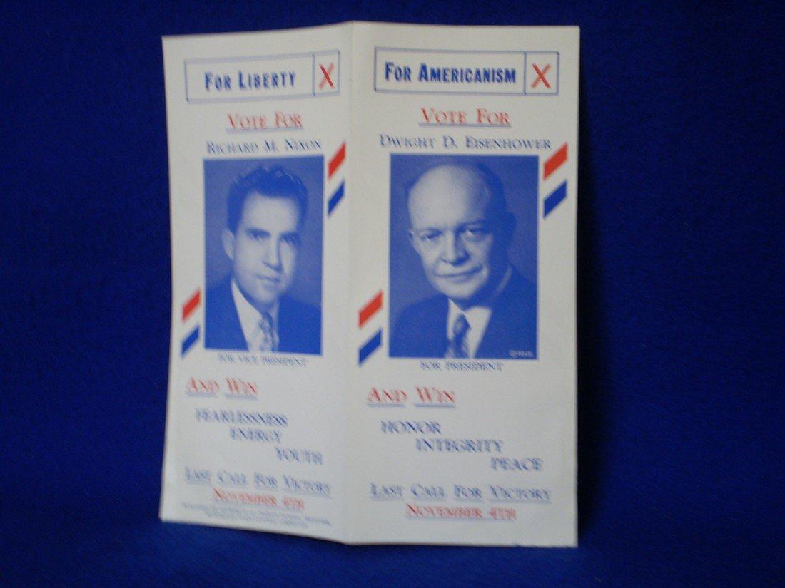 19: 1950's Eisenhower/Nixon Campaign