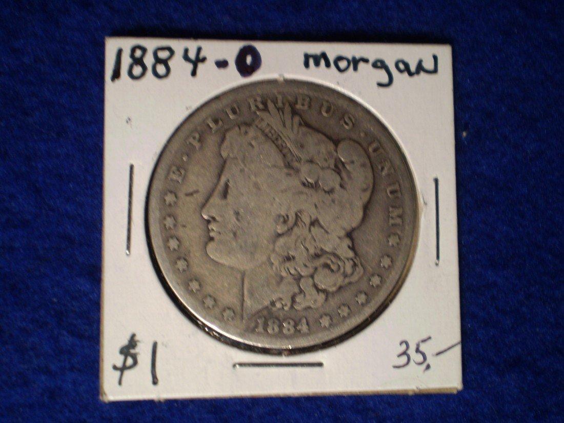 183: 1884-o Morgan Silver Dollar