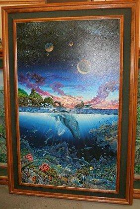 "ROBERT LYN NELSON  Oil - Original 189K - ""Three Worlds"""