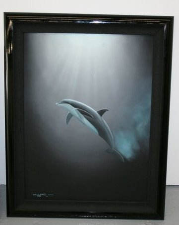 "WYLAND ""Evening Encounter"" Oil on Canvas Signed 1989"