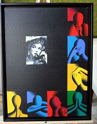 14A: KOSTABI, MARK - CANVAS- 1998 - 18 X 24 Signed -