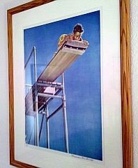 2: Norman Rockwell - Hand Signed -HIGH DIVE - Artist Pr