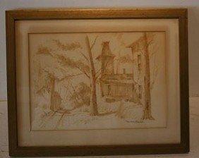 Watercolor - EDWARD J. BASKER (AMERICAN, 1908 - 1972