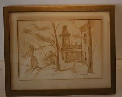 6: Watercolor - EDWARD J. BASKER (AMERICAN, 1908 - 1972