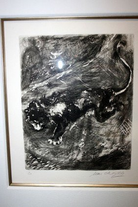 10:Chagall Etching - Hand Signed -Fables of La Fontaine