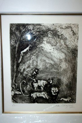 11: Chagall Etching-Hand Signed-Fables of La Fontaine