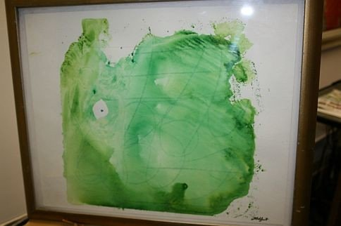 19: Original Artwork by artist TOVA GALGUT - Green Abst