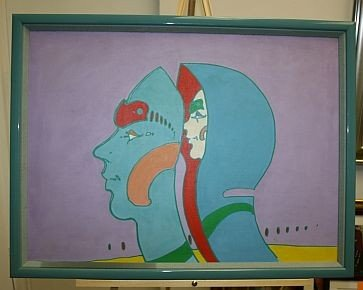 1: Peter Max 1972 Original on Canvas Signed - RARE RARE