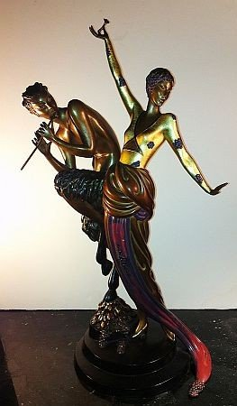 60: ERTE - Bronze - WOMAN AND SATYR - MINT CONDITION -