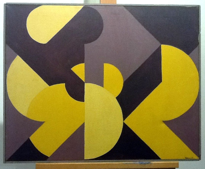 8: Klein, 1969 - Acylic on Canvas - Signed