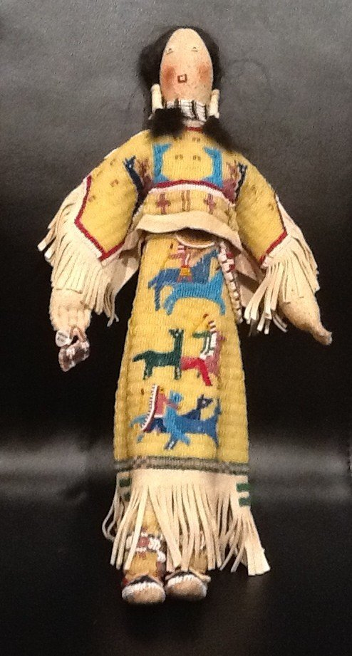 32 Antique Native American Doll Crow Indians
