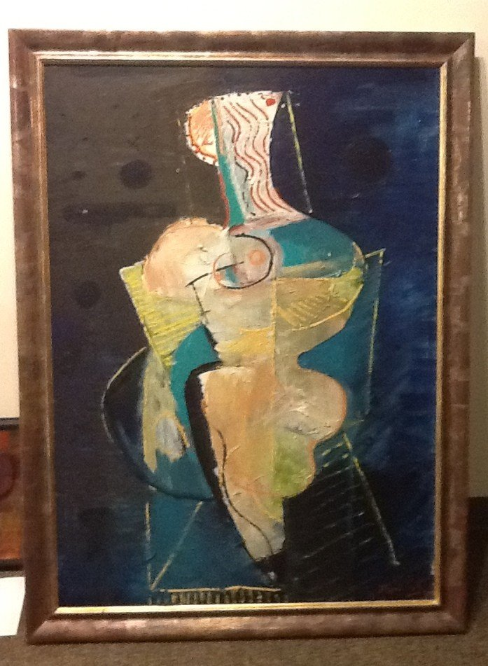 6A: Mario Pikus - Original on Canvas -1993 Figure in Ye