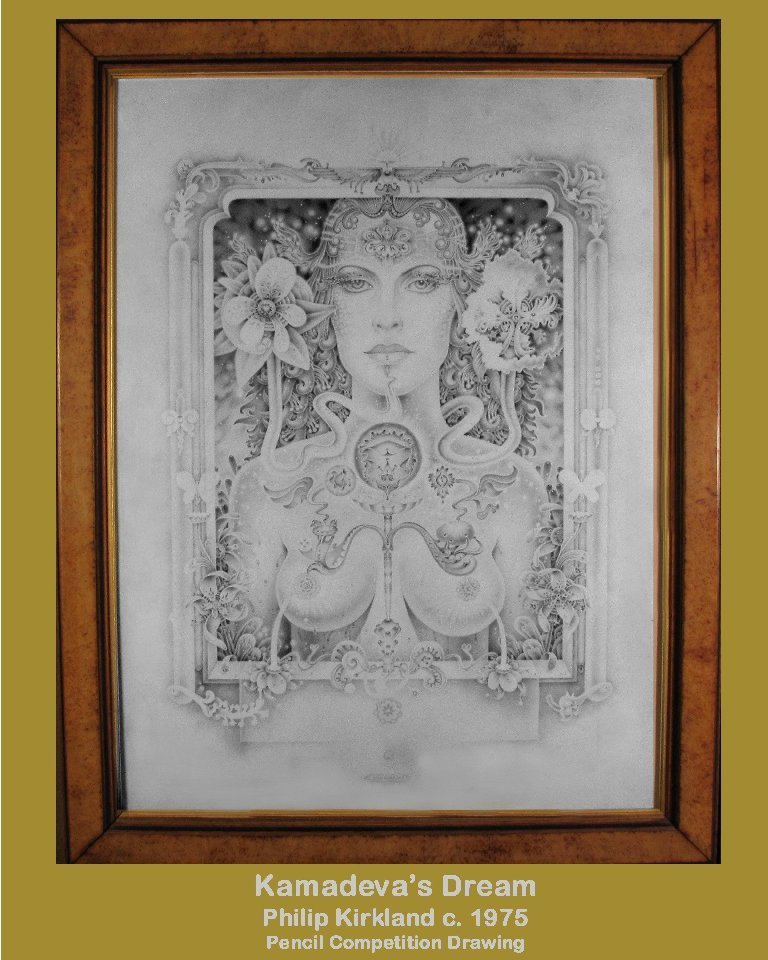"Philip Kirkland: RARE ""Kamadeva's Dream"" :Pencil (1975)"