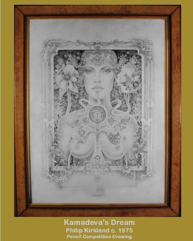 "Philip Kirkland: RARE ""Kamadeva's Dream"" :Pencil (1975)"