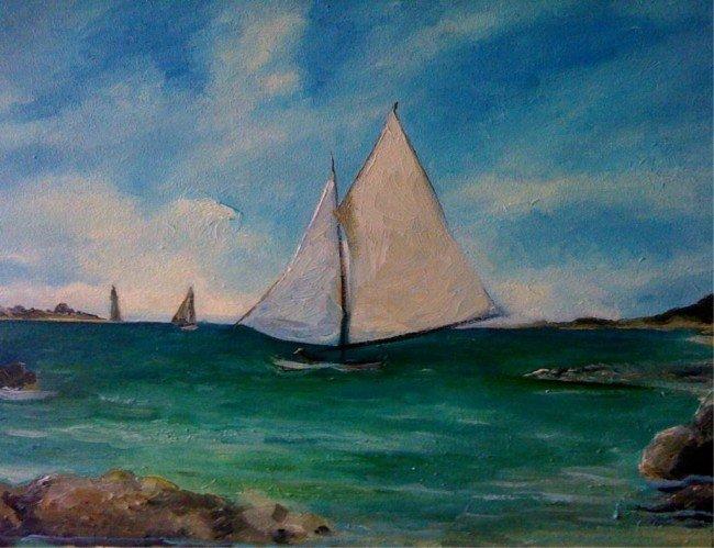 14: Sail boats, VIRUCHY DELGADO 1993