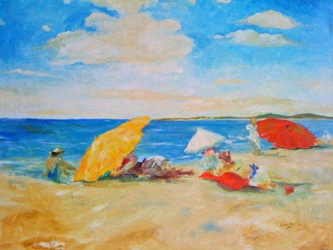 17: Chase's beach scene, VIRUCHY DELGADO 1995