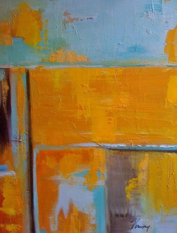 18: Turquoise yellow abstract, VIRUCHY DELGADO 2006