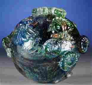 A CONTEMPORARY ART GLASS SPHERE,