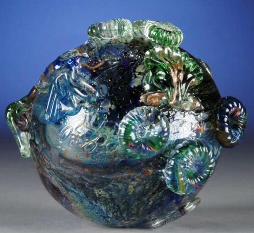 24: A CONTEMPORARY ART GLASS SPHERE,