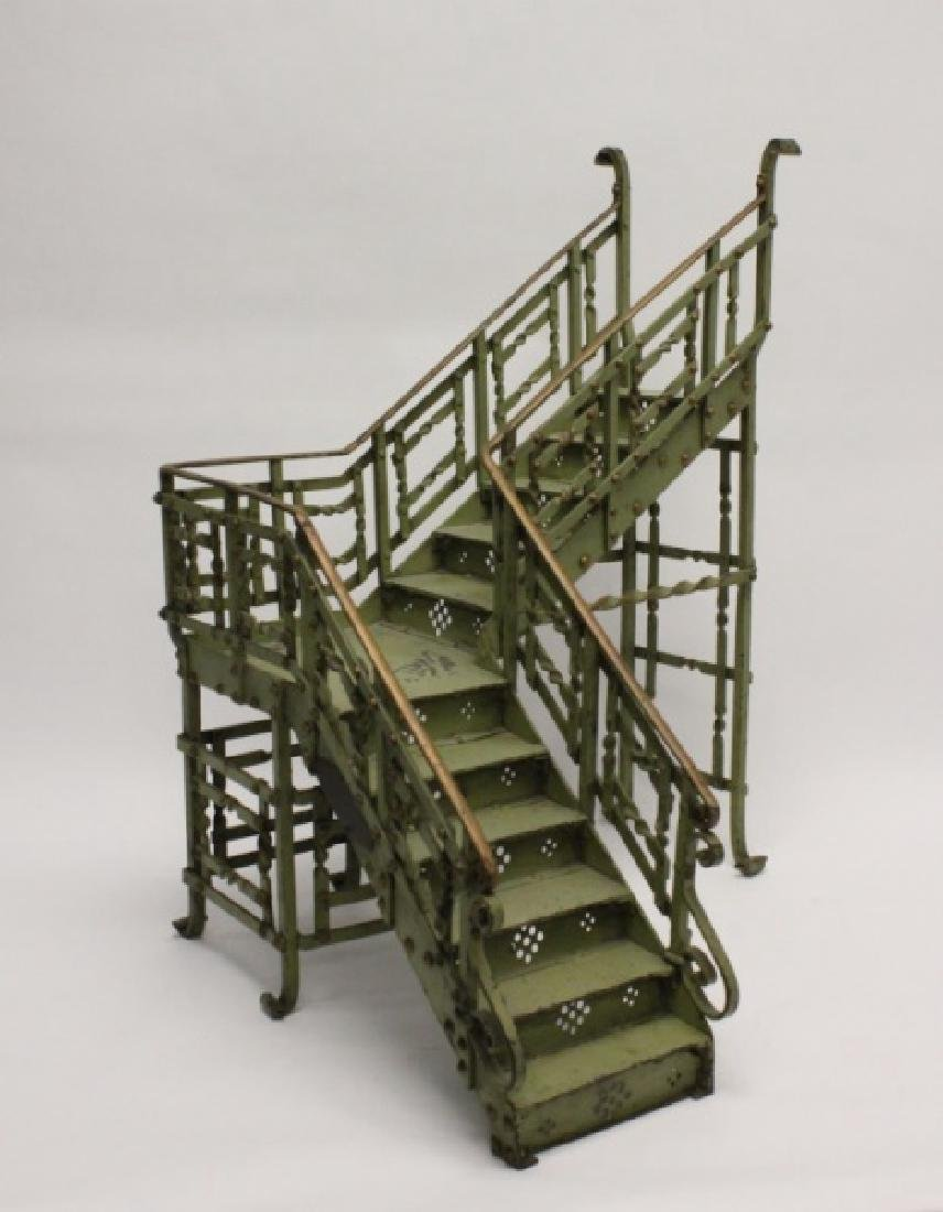 Antique Victorian Wrought Iron Staircase Model
