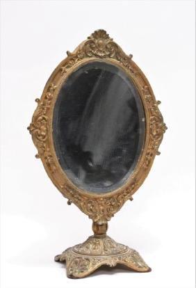 Antique Bradley & Hubbard Bronze Dresser Mirror
