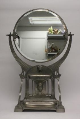 Art Nouveau GSW Jugendstil Gamba Dressing Mirror