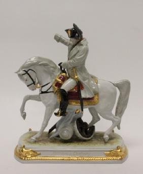 Scheibe-Alsbach German Porcelain Figure Napoleon