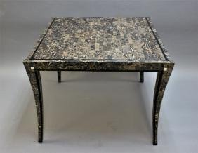 Maitland Smith Tessellated Marble Game Table