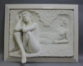 Bill Mack Bonded Sand Relief Wall Sculpture, Nudes
