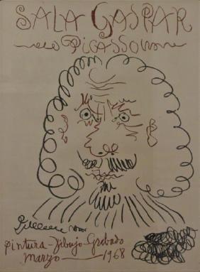 Pablo Picasso Exhibition Poster Sala Gaspar 1968