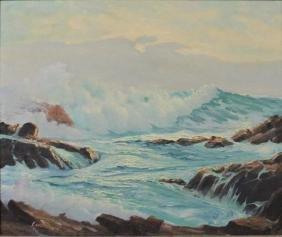 Leonard C. Lane (1910-1978) Original Seascape O/C