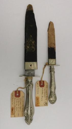 Sterling Handle Engraved Dagger & Best Bowie Knife