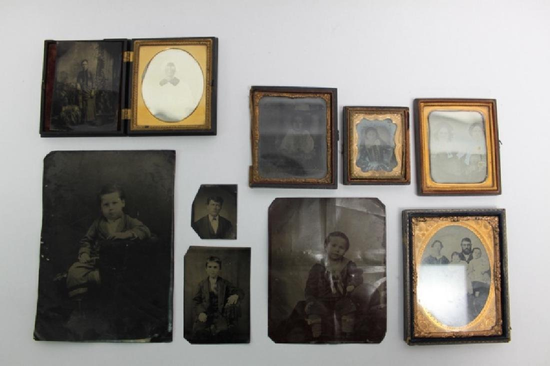 (10) Pcs 19th C Tintypes & Daguerreotype Photos